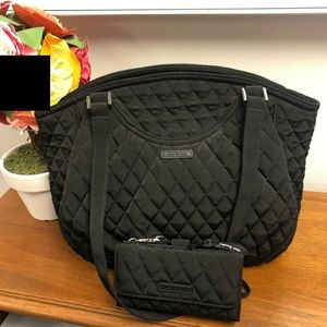 Authentic Vera Bradley handbag and wristlet